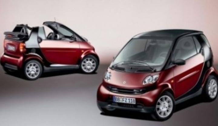 Prezentace mini automobilů značky Smart