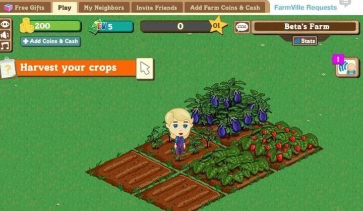 hra FarmVille na facebooku