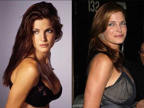 Stephanie Seymour před lety a dnes